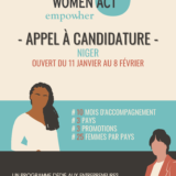 Empow'Her, Appel à Candidature Women Act Niger